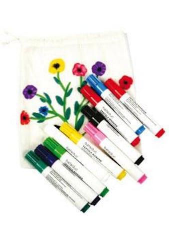 beleduc Kreativset »Textilstifte, 10er Set«, (Set), Zum Bemalen von Stoffen kaufen