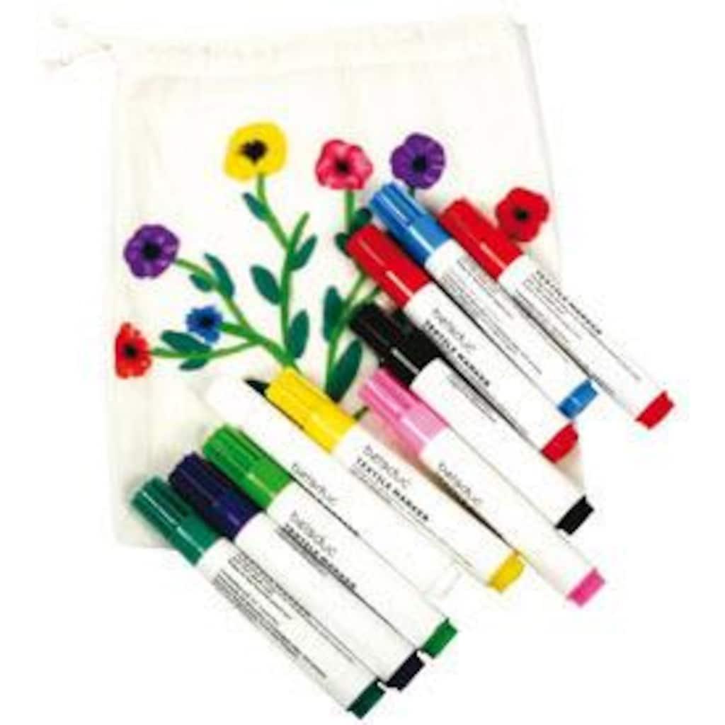 beleduc Kreativset »Textilstifte, 10er Set«, (Set), Zum Bemalen von Stoffen