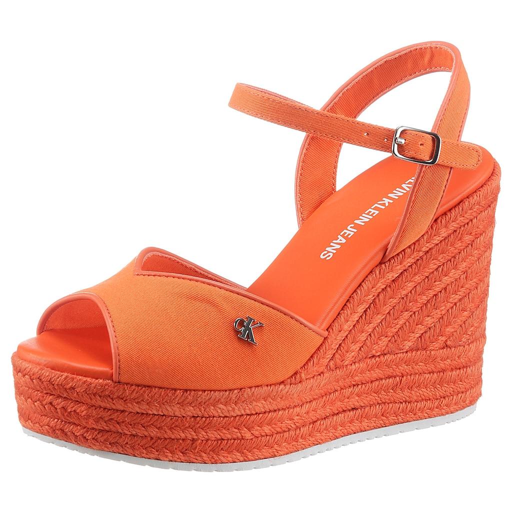 Calvin Klein High-Heel-Sandalette »SENIA«, mit verstellbarer Schnalle