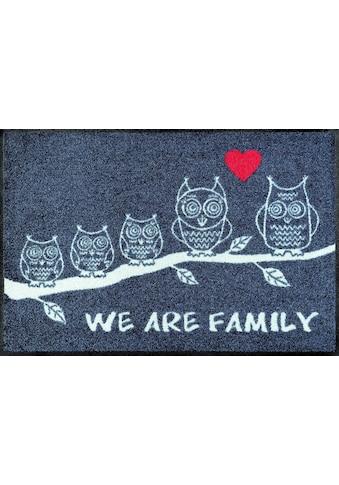 wash+dry by Kleen-Tex Fußmatte »We are Family«, rechteckig, 7 mm Höhe, Fussabstreifer,... kaufen