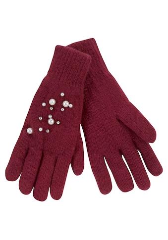 J.Jayz Strickhandschuhe, mit farbigen Zierperlen kaufen