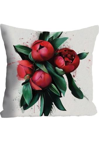 queence Kissenhülle »»rote blüten««, (1 St.) kaufen