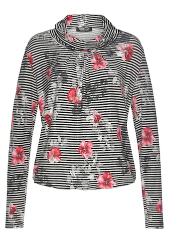 FRANK WALDER Print-Shirt, mit floralem Druck und Elastiksaum kaufen