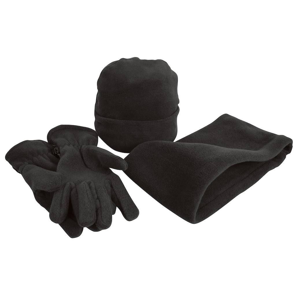 Result Strickmütze »Unisex Active Fleece Winter-Set mit Mütze, Handschuhen und Halswärmer, Anti-Pilling«