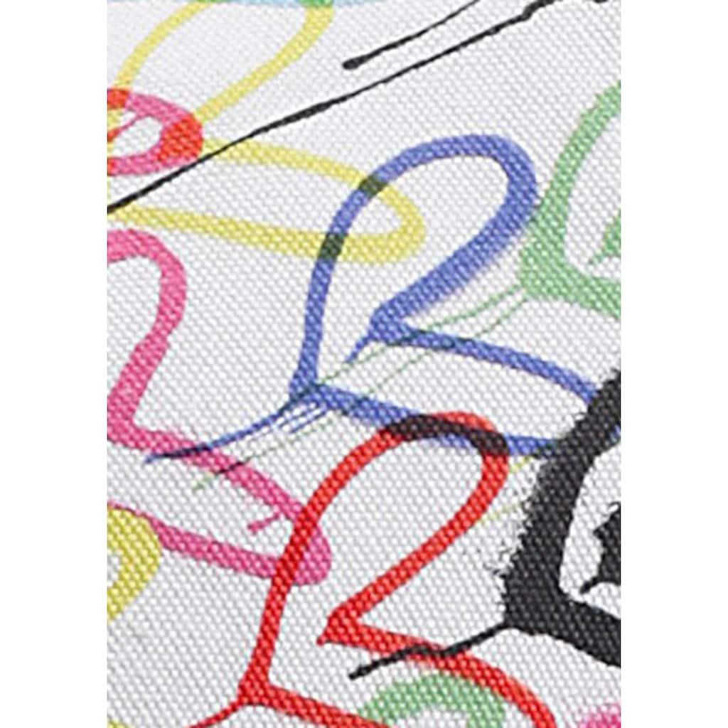 Skechers Slip-On Sneaker »POPPY-DRIPPIN LOVE«, mit Allover-Graffiti-Print