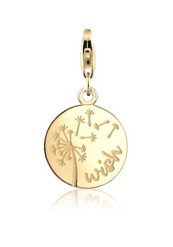 Nenalina Charm-Einhänger »Pusteblume Anhänger Rund vergoldet 925 Silber« kaufen