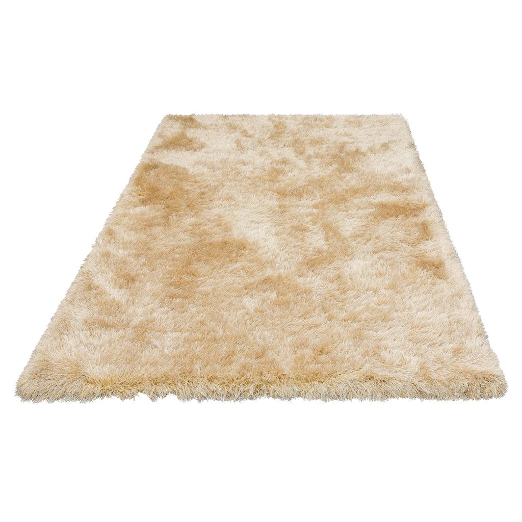 merinos Hochflor-Teppich »Glossy 411«, rechteckig, 70 mm Höhe, Besonders weich durch Microfaser, Wohnzimmer