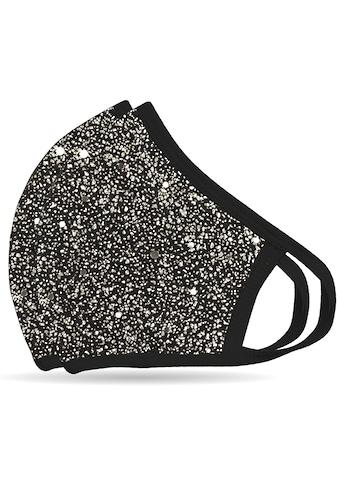 NEQI Mund-Nasen-Masken »Silber Glitzer«, stylisch und festlich kaufen
