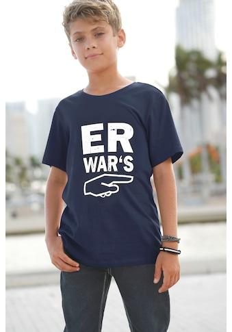 KIDSWORLD T-Shirt »Er war´s« kaufen