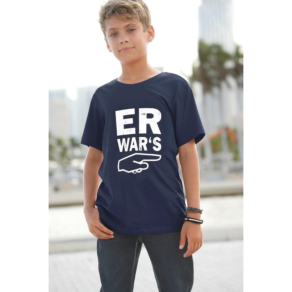 KIDSWORLD T-Shirt »Er war´s«