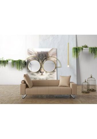machalke® 2,5-Sitzer »groove«, mit GRATIS Ledertasche kaufen