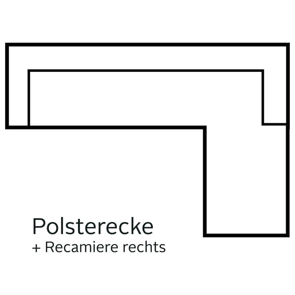 Home affaire Ecksofa »Nordic«, mit Bettfunktion und Bettkasten, Steppung, Federkern, incl. 2 Zierkissen