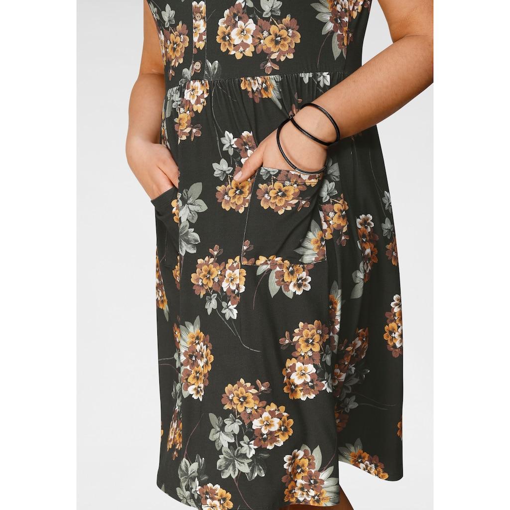 Boysen's Jerseykleid, mit schönem Druck und aufgesetzten Taschen