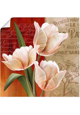 Artland Wandbild »Französische Tulpencollage«, Blumen, (1 St.), in vielen Größen &... kaufen