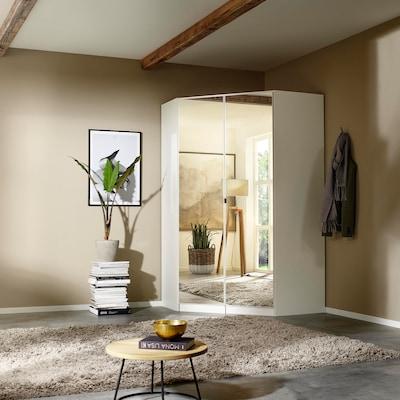 Eckkleiderschrank mit Spiegeltüren
