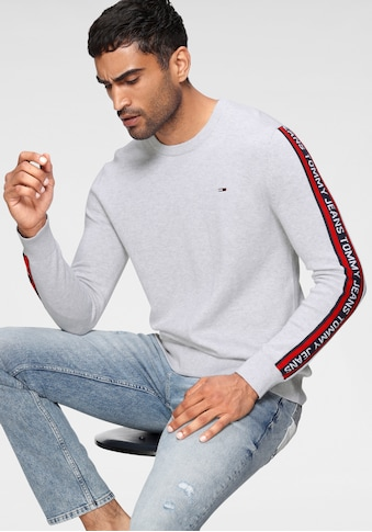 TOMMY JEANS Strickpullover »TJM SLEEVE TAPE SWEATER« kaufen