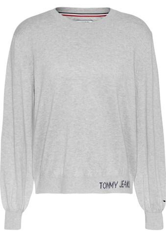 TOMMY JEANS Rundhalspullover »TJW FINE CREW NECK SWEATER« kaufen
