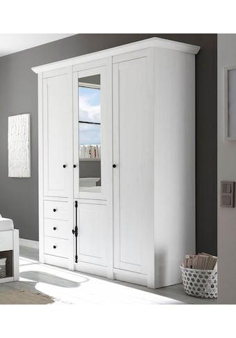 Home affaire Kleiderschrank »California«, im wunderschönen Landhausstil kaufen