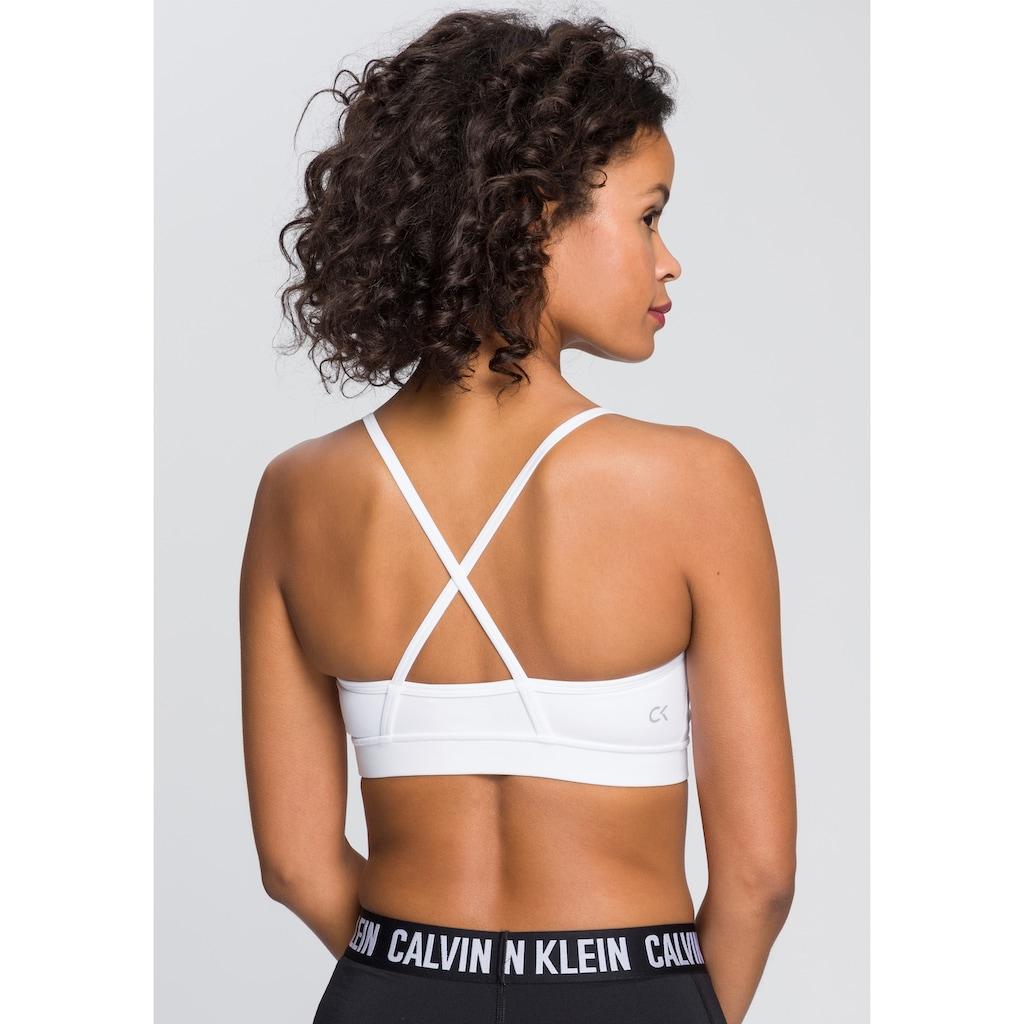 Calvin Klein Performance Bustier »LOW SUPPORT SPORTS BRA«, mit Trägern für geringe Intensität im Rücken gekreuzt