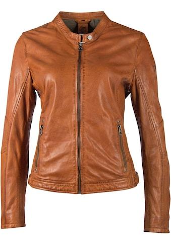 Gipsy Lederjacke »Mieke«, in Kurzform mit Biker-Details kaufen