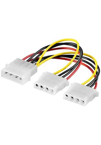 Goobay PC Y Stromkabel/Stromadapter »5.25; 1x Stecker zu 2x Buchse« kaufen