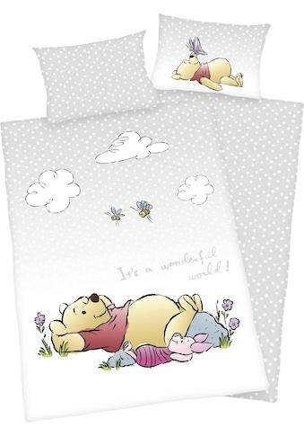 Walt Disney Babybettwäsche »Winnie the Pooh«, mit Hoteleinschlag kaufen