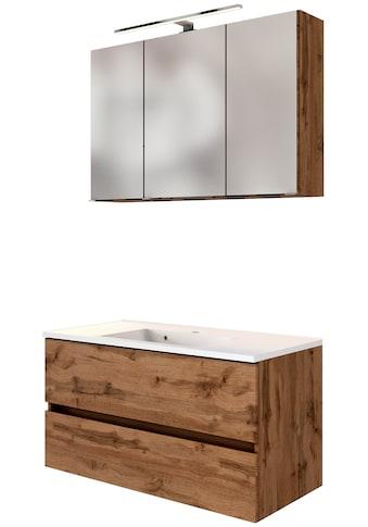 HELD MÖBEL Waschtisch-Set »Baabe«, (Set, 2 St.), Breite 100 cm, Softclose-Funktion kaufen