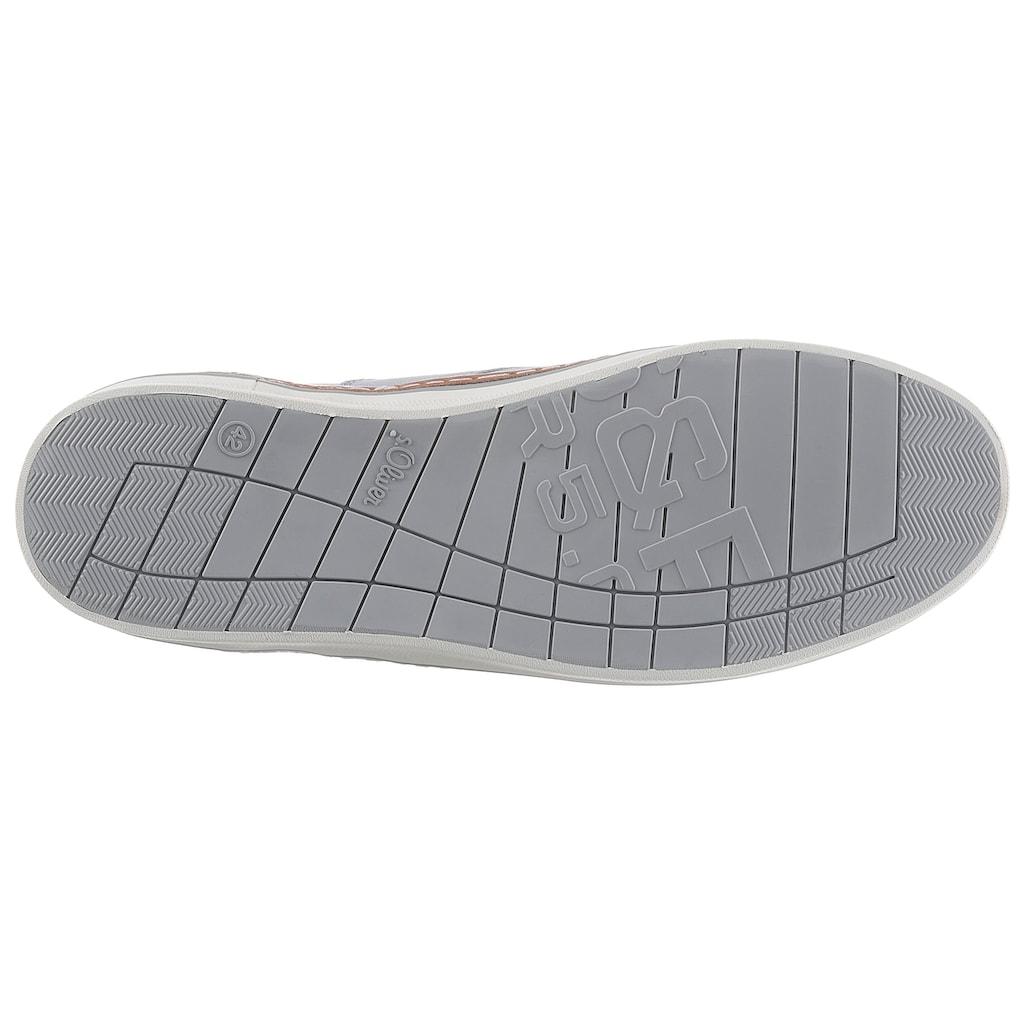 s.Oliver Sneaker, mit Kontrast-Rahmennaht