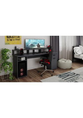 Homexperts Gamingtisch »Fortune«, mit Platz für mehrere Bildschirme kaufen