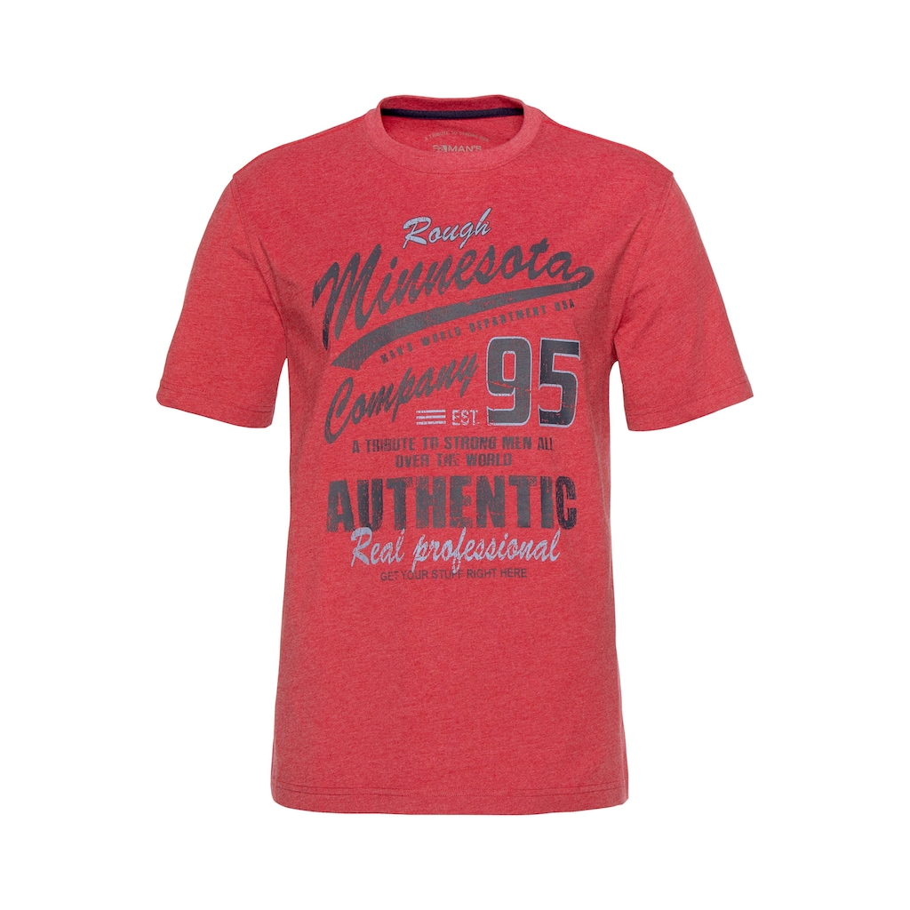 Man's World T-Shirt, mit Print in Vintage Optik