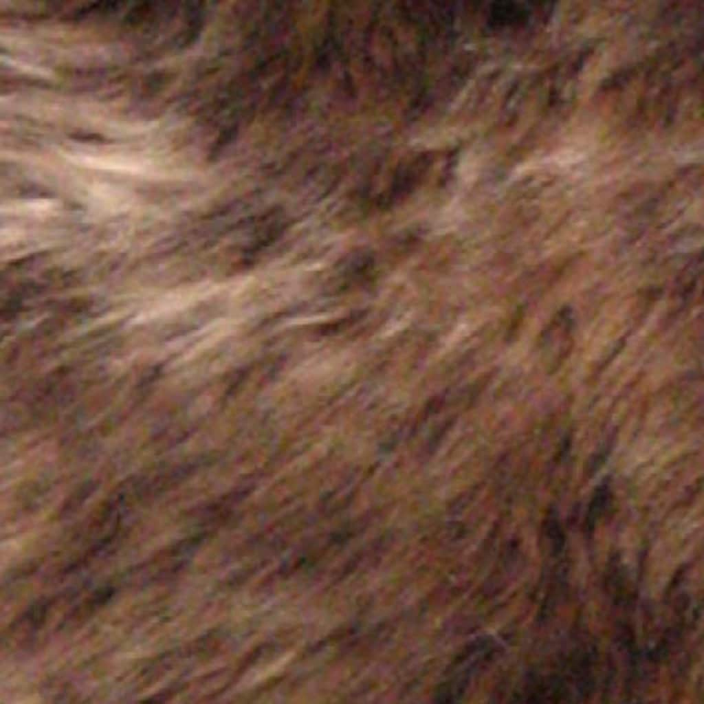 Heitmann Felle Fellteppich »Lammfell KK 1,5«, fellförmig, 70 mm Höhe, echtes Austral. Lammfell, Farbe braun mit hellbraunen Spitzen, Wohnzimmer