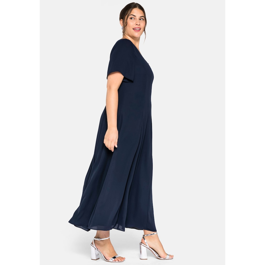 Sheego Maxikleid, mit Pailletten