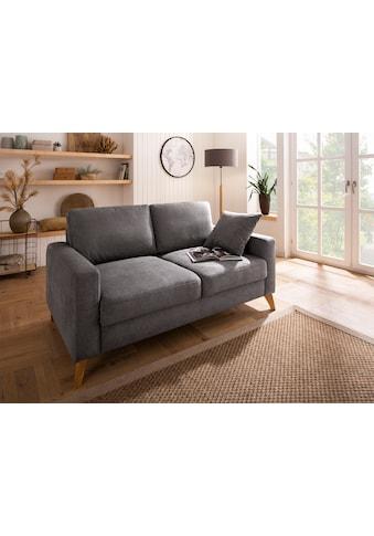 Home affaire 2,5-Sitzer »Stanza«, incl. 1 Zierkissen, Keder, Moderne Holzfüße, B/T/H: 171/93/89 cm kaufen