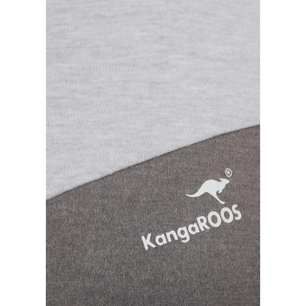 KangaROOS Sweater, in harmonischem Colorblocking-Design