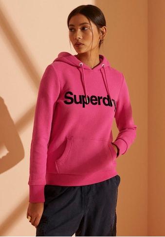 Superdry Kapuzensweatshirt »Classic Logo Flock Hoodie« kaufen