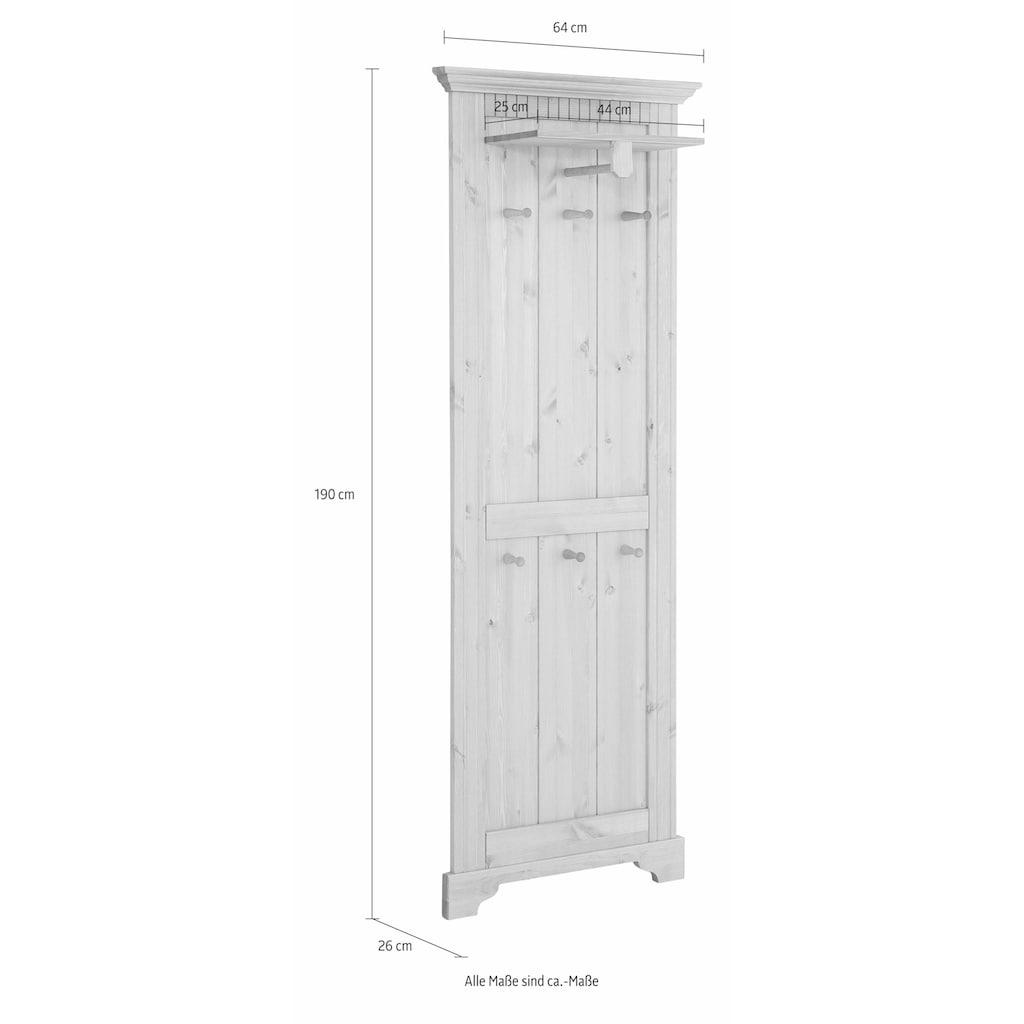 Home affaire Garderobenpaneel »Rustic«, aus massiver Kiefer, 64 cm breit