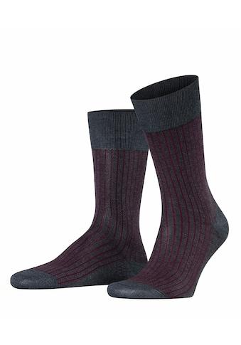 FALKE Socken »Oxford Stripe«, (1 Paar), aus Fil d'Ecosse Baumwolle kaufen