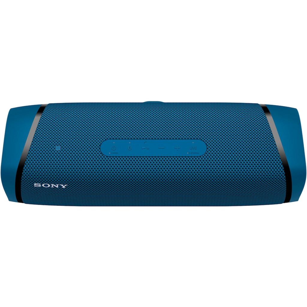 Sony Bluetooth-Lautsprecher »SRS-XB43 tragbarer, kabelloser«, Mehrfarbige Lichtleiste, Lautsprecherbeleuchtung, wasserabweisend, Extra Bass