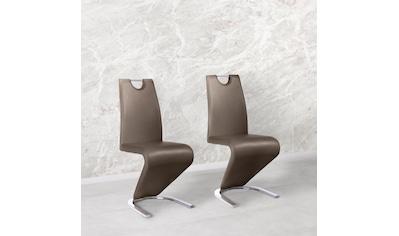 Homexperts Esszimmerstuhl »Zora 02«, (2 Stück), Bezug in Kunstleder, Rückenlehne mit Griff zum einfachen Zurückziehen kaufen