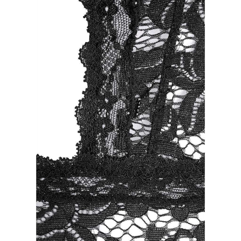 LASCANA Stringbody, ohne Bügel aus transparenter Spitze