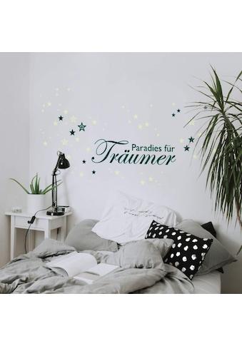 Wall-Art Wandtattoo »Wandtattoo Paradies Leuchtsterne« kaufen