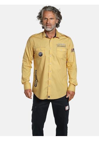 Jan Vanderstorm Langarmhemd »YRJAN«, Freizeithemd Schulterklappen kaufen