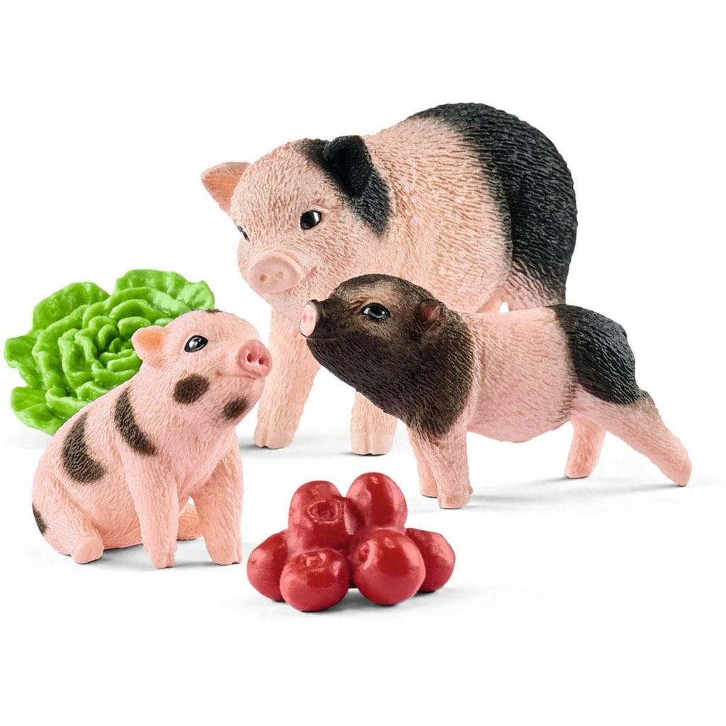 """Schleich® Spielfigur """"Farm World, Mini-Schwein Mutter und Ferkel (42422)"""", (Set)"""