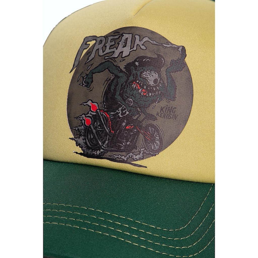 KingKerosin Baseball Cap »Freak«, mit wattierter Front und Motiv-Print