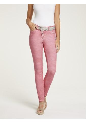 LINEA TESINI by Heine Push-up-Jeans, im Used-Look kaufen