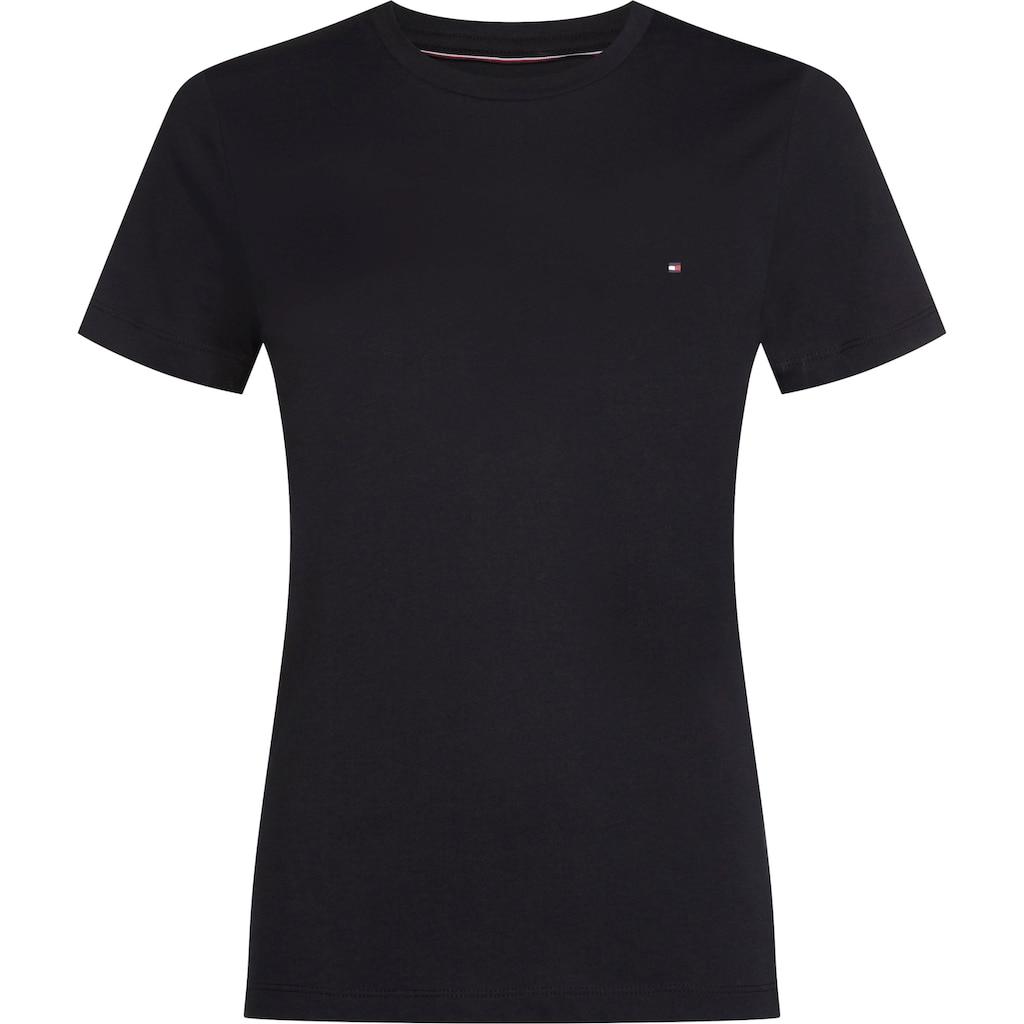 TOMMY HILFIGER T-Shirt »HERITAGE CREW NECK TEE«, mit Tommy Hilfiger Logo-Flag auf der Brust