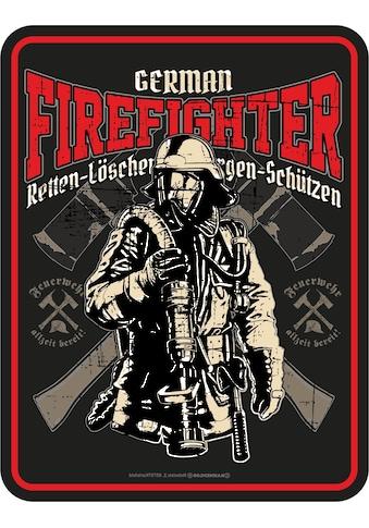Rahmenlos Blechschild für die Feuerwehr kaufen