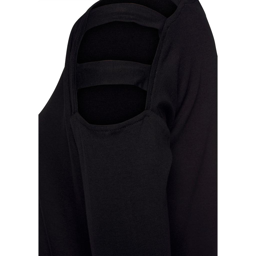 LASCANA 3/4-Arm-Shirt, mit Cut-outs