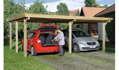 weka Doppelcarport »Optima 1«, Holz, 270 cm, braun kaufen