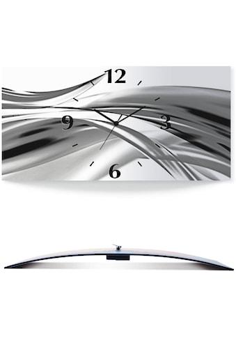 Artland Wanduhr »Schöne Welle - Abstrakt«, 3D Optik gebogen, silber-metallic kaufen